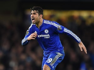 Diego Costa shouts during the game between Chelsea and West Brom on January 13, 2016