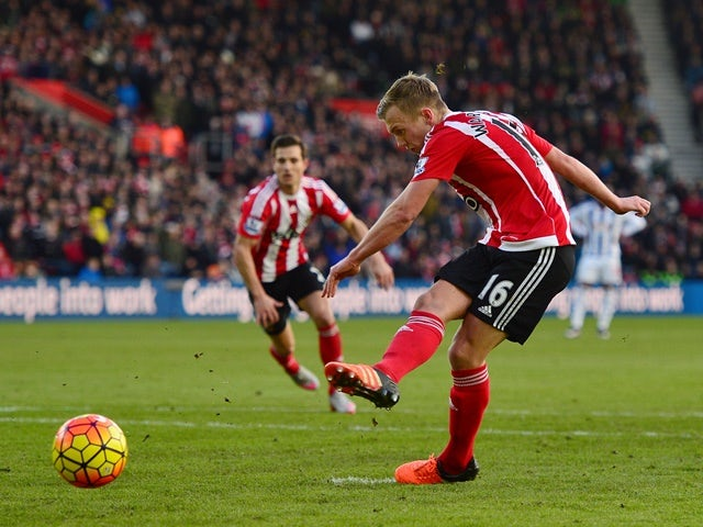 James Ward-Prowse of Southampton converts the penalty to score his team's second goal during the Barclays Premier League match between Southampton and West Bromwich Albion at St. Mary's Stadium on January 16, 2016