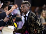Paul Pogba arrives for the FIFA Ballon d'Or Gala 2015 at the Kongresshaus on January 11, 2016