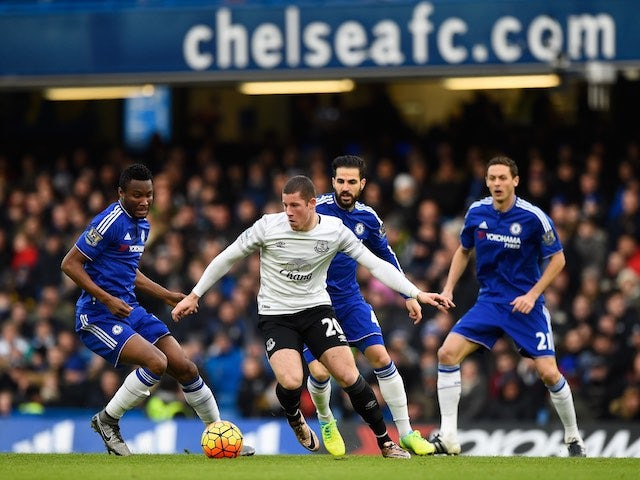 Ross Barkley in action during the game between Chelsea and Everton on January 16, 2016