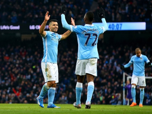 Result: Aguero double gets Man City back on track