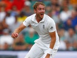 A red Stuart 'StuBro' Broad in action on day three of the third Test between South Africa and England on January 16, 2016