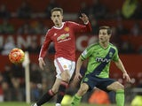 Adnan Januzaj in action during the game between Manchester United and Southampton on January 23, 2016