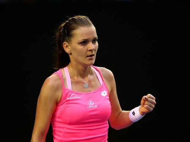 Agnieszka Radwanska in action on day three of the Australian Open on January 20, 2016