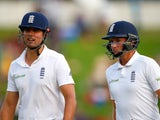 Alastair Cook and ickle Joe Root on day two of the fourth Test between South Africa and England on January 23, 2016