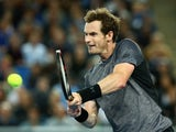 Andy Murray in action against Joao Sousa during day six of the 2016 Australian Open at Melbourne Park on January 23, 2016