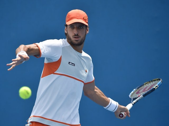 Feliciano Lopez in action on day two of the Australian Open on January 19, 2016