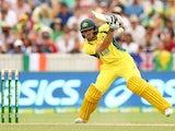 Glenn Maxwell of Australia bats against India at Manuka Oval on January 20, 2016