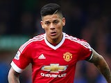Marcos Rojo of Manchester United in action on October 17, 2015