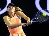 Maria Sharapova in action on day three of the Australian Open on January 20, 2016
