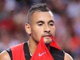 Nick Kyrgios is hungry on day one of the Australian Open on January 18, 2016
