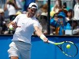 Rafael Nadal practises on day one of the Australian Open on January 18, 2016