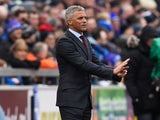 Keith Curle gives instructions during the FA Cup game between Carlisle and Everton on January 31, 2016