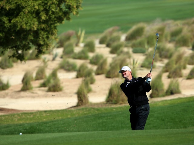 Paul Lawrie in action during the third round of the Commercial Bank Qatar Masters at the Doha Golf Club on January 29, 2016