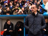Roberto Martinez watches on during the FA Cup game between Carlisle and Everton on January 31, 2016