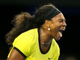 Serena Williams during the women's Australian Open final on January 30, 2016