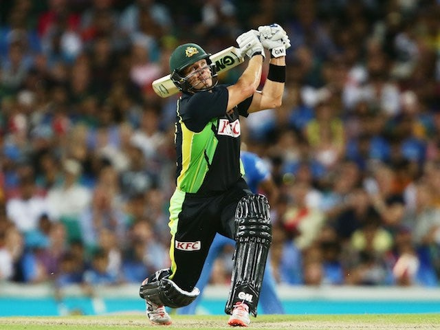 Shane Watson in action during the third T20 between India and Australia on January 31, 2016