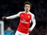 Tomas Rosicky in action during the FA Cup game between Arsenal and Burnley on January 30, 2016