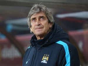 Outgoing manager Manuel Pellegrini watches on during the Premier League game between Sunderland and Manchester City on February 2, 2016