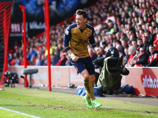 Mesut Ozil racks up the fantasy points during the Premier League game between Bournemouth and Arsenal on February 7, 2016