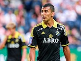 Nabil Bahoui of AIK in action on August 10, 2014