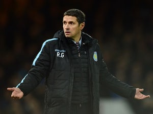 Remi Garde is perpetually baffled during the Premier League game between West Ham and Aston Villa on February 2, 2016