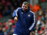 Sam Allardyce is feeling fruity during the Premier League game between Liverpool and Sunderland on February 6, 2016
