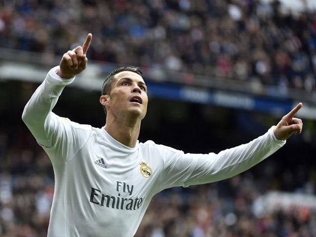 Real Madrid's Cristiano Ronaldo celebrates after scoring against Athletic Bilbao on February 13, 2016