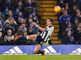 Daryl Janmaat goes down during the Premier League game between Chelsea and Newcastle United on February 13, 2016