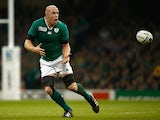 Ireland captain Paul O' Connell in action during the 2015 Rugby World Cup Pool D match against France on October 11, 2015