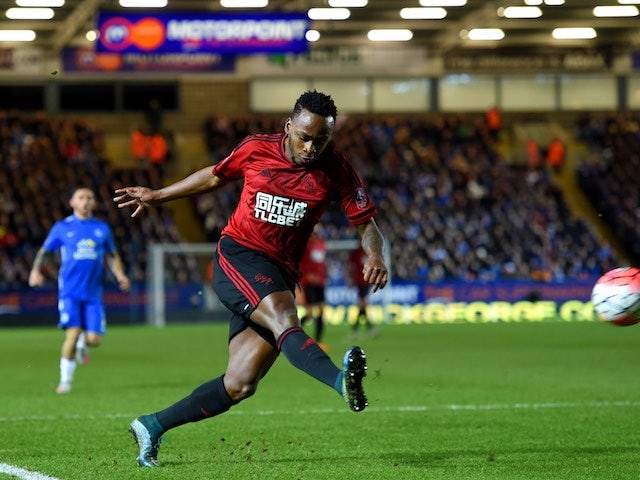 Saido Berahino in action during the FA Cup replay between Peterborough United and West Bromwich Albion on February 10, 2016