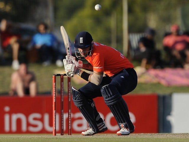 Alex Hales during the T20 warm-up match between South Africa A and England at Boland Park on February 17, 2016