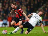 Dan Gosling of Bournemouth is tackled by Phil Jagielka of Everton during the FA Cup fifth-round match on February 20, 2016