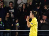 Denis Suarez celebrates during the Europa League game between Villarreal and Napoli on February 18, 2016