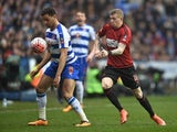 Hal Robson-Kanu and James McClean in action during the FA Cup game between Reading and West Bromwich Albion on February 20, 2016