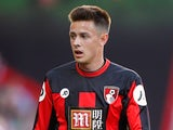 Harry Cornick of Bournemouth in action during a pre-season friendly against Cardiff City at Vitality Stadium on July 31, 2015