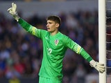Matej Delac of Croatia during the UEFA U21 Championship playoff first leg against England on October 10, 2014