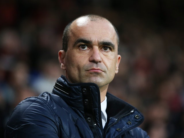 Roberto Martinez looks on prior to the FA Cup fifth-round match between Bournemouth and Everton on February 20, 2016