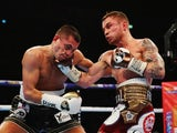 Carl Frampton and Scott Quigg in action on February 27, 2016