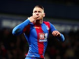 Connor Wickham of Crystal Palace celebrates scoring against West Bromwich Albion at The Hawthorns on February 27, 2016