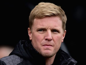 Eddie Howe looks on prior to the Premier League match between Watford and Bournemouth at Vicarage Road on February 27, 2016