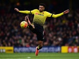 Etienne Capoue of Watford controls the ball against Bournemouth at Vicarage Road on February 27, 2016