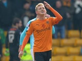 George Saville celebrates scoring for Wolverhampton Wanderers against Derby County on February 27, 2016