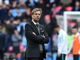 Jurgen Klopp watches on during the League Cup final between Liverpool and Manchester City on February 28, 2016