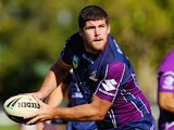Mitch Garbutt in action for the Melbourne Storm on February 2, 2013