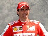 Ferrari test driver Pedro de la Rosa of Spain poses on March 14, 2013