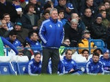 Guus Hiddink watches on during the Premier League game between Chelsea and Stoke City on March 5, 2016