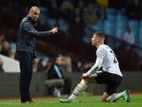 Roberto Martinez threatens Ross Barkley with a good fisting during the Premier League game between Aston Villa and Everton on March 1, 2016