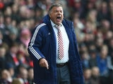 Sam Allardyce bellows during the Premier League game between Southampton and Sunderland on March 5, 2016