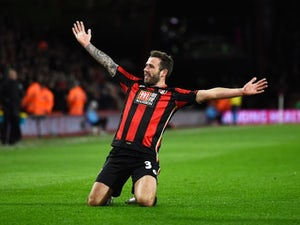 Steve Cook celebrates scoring during the Premier League game between Bournemouth and Southampton on March 1, 2016